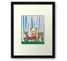 Mother Nature and Animal Friends Framed Print