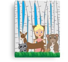 Mother Nature and Animal Friends Canvas Print