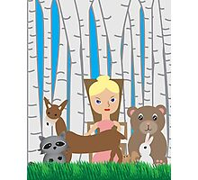 Mother Nature and Animal Friends Photographic Print