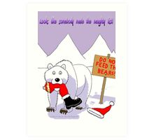 Santa's Naughty List Card Art Print