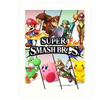 Smash Bros Art Print