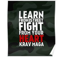 Learn From The Street Krav Maga - Camouflage Poster