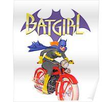 Batgirl on Batbike Poster