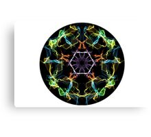 Psychedelic Multi-Colored Electric Circle Canvas Print