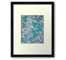 Weißklang - Abstract Painting on Acryl Framed Print