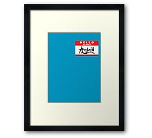 HELLO my name is: ASTRID Framed Print