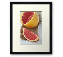 Ruby grapefruit Framed Print