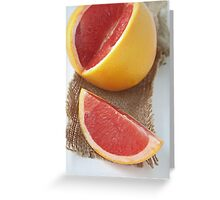 Ruby grapefruit Greeting Card