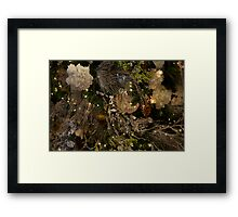 silver-white sparkle Framed Print