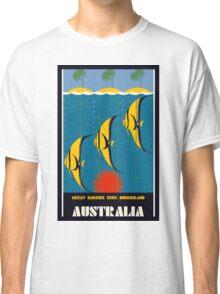 Great Barrier Reef Australia travel advertising Classic T-Shirt