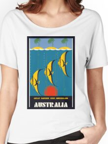 Great Barrier Reef Australia travel advertising Women's Relaxed Fit T-Shirt