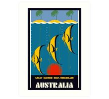 Great Barrier Reef Australia travel advertising Art Print