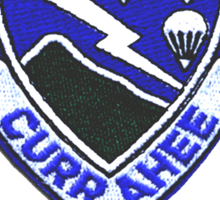 Currahee Patch & Combat Infantry Badge - T-Shirt Sticker