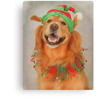 """ May Your Days Be Merry And Bright~ And May All Your Christmas Hats Fit Right "" Canvas Print"