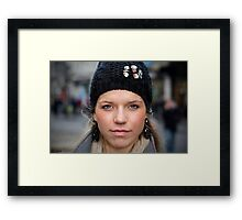 Portrait Of A Stranger: 15 Framed Print