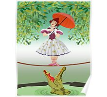 Cute halloween The crocodile girl Deadly circus Poster