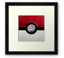 Red Pokeball Framed Print