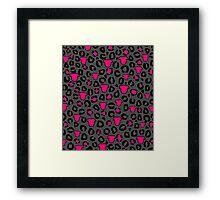 Leopard Pit Bull Print Charcoal Framed Print