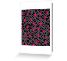 Leopard Pit Bull Print Charcoal Greeting Card