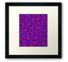 Leopard Pit Bull Print Purple Framed Print