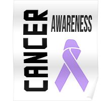 Cancer Awareness Ribbon (all cancers) Poster