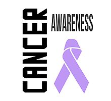Cancer Awareness Ribbon (all cancers) Photographic Print