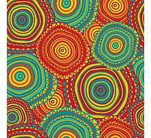 Ornamental doodle pattern in ethnic motives Photographic Print