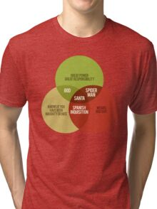 Santa Venn Diagram Tri-blend T-Shirt