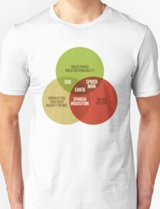 Santa Venn Diagram Unisex T-Shirt