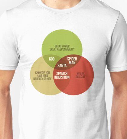 Santa Venn Diagram Unisex T-Shirt