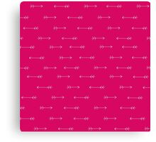 Arrows Rosa Canvas Print