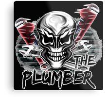 "Plumber Skull 1: ""The Plumber"" Metal Print"