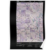 USGS Topo Map Washington State WA Winchester Peak 20110428 TM Inverted Poster