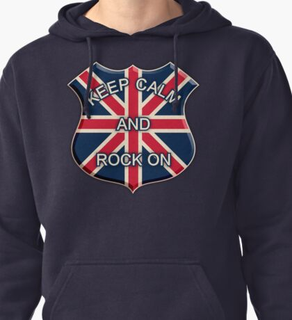 Keep Calm And Rock On Pullover Hoodie
