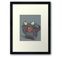 Radical Space Godzilla Framed Print