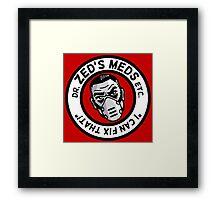 Zed's Meds Framed Print