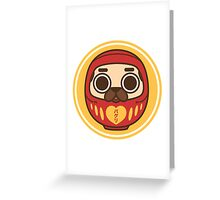 Puglie Daruma Greeting Card