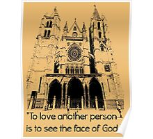 To love another person is Poster
