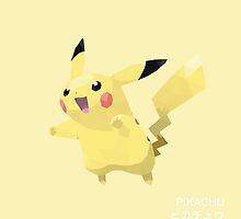 Pikachu Low Poly by meowzilla