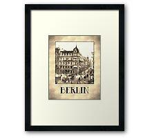 Berlin retro antique Unter den Linden grungy Framed Print