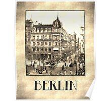 Berlin retro antique Unter den Linden grungy Poster