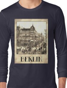 Berlin retro antique Unter den Linden grungy Long Sleeve T-Shirt