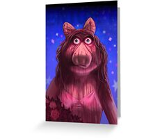 Muppet Maniacs - Ms. Piggy as Carrie Greeting Card