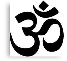 Om Aum Symbol Canvas Print