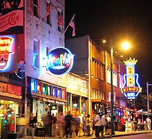 Beale Street in Memphis by James Richardson