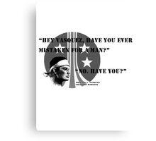 Pvt. Vasquez quote Canvas Print