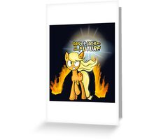 Applejack to the Future Greeting Card