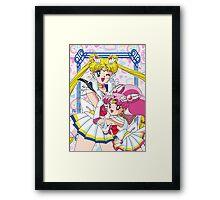 Sailor Moon And Chibi Moon Framed Print