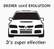Mitsubishi Evo used Evolution It was Super Effective! Pokemon Gag Sticker / Tee - Black Baby Tee
