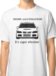 Mitsubishi Evo used Evolution It was Super Effective! Pokemon Gag Sticker / Tee - Black Classic T-Shirt